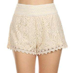 Urban Planet White Lace Shorts